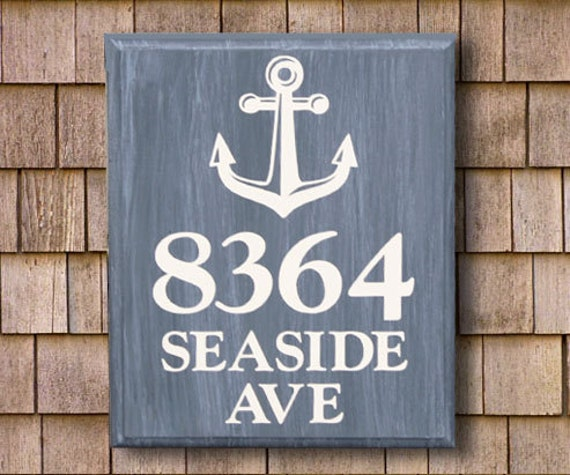Personalized Beach House Plaques: Beach House Sign Address Plaque Lake House By