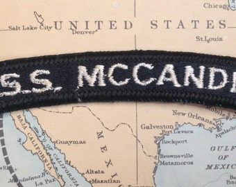 U.S.S. McCandless FF-1084 Full Color Patch Tab Embroidered Patch US Navy