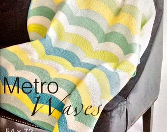 Metro Waves Quilt Pattern - Sew Kind of Wonderful - SKW 401 - QCR Pattern