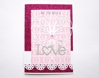 """Greeting card """"All you need is love"""""""