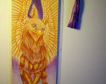 Hand Drawn Hippogriff Bookmark
