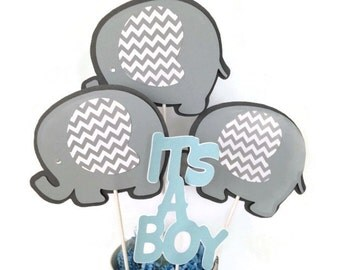 Elephant Baby Shower Centerpiece, Elephant Theme Baby Shower Party Decorations