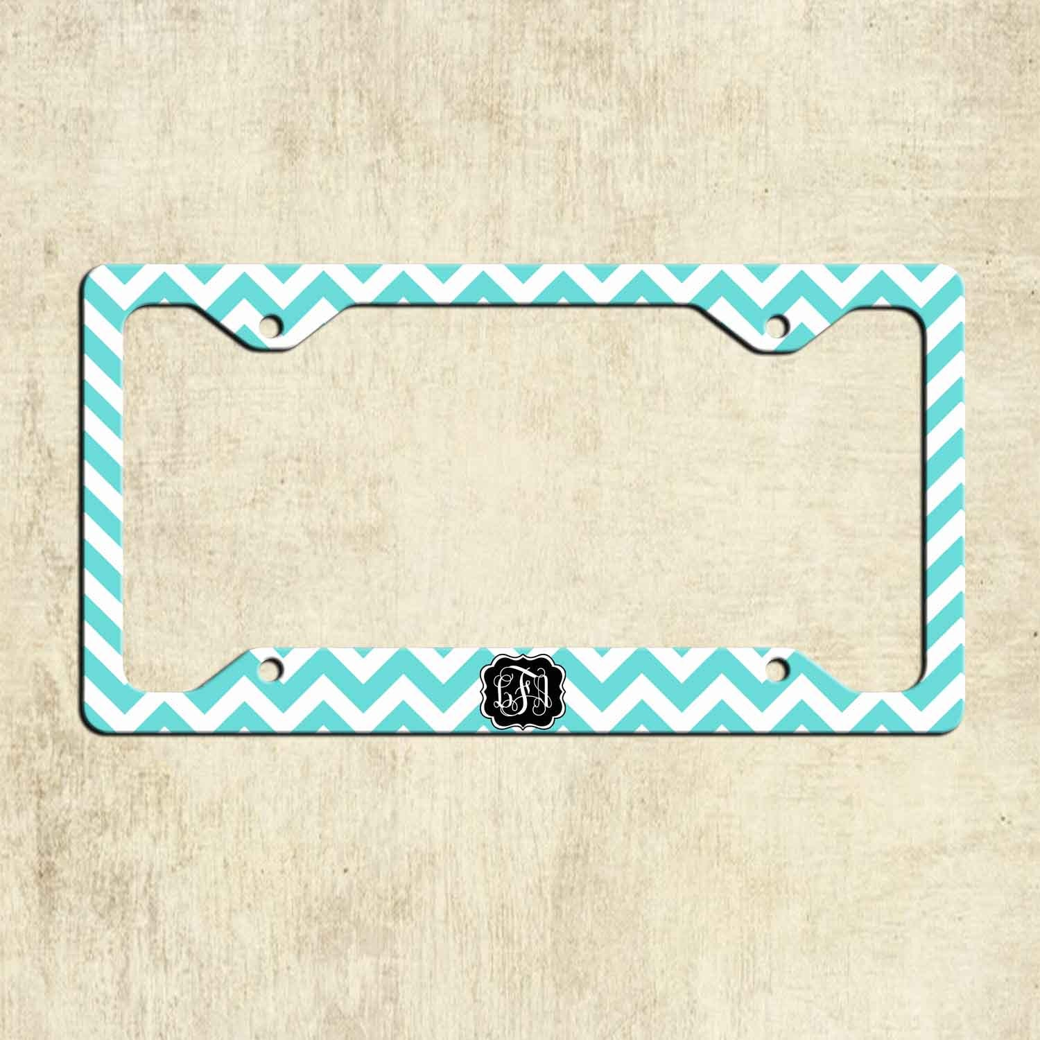 Monogram License Plate Frame - Proga | Info