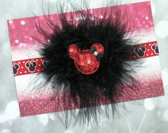 Minnie Mouse inspired headband  Minnie Mouse hairbow