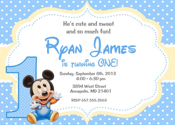 Baby Disney Invitations was best invitations template