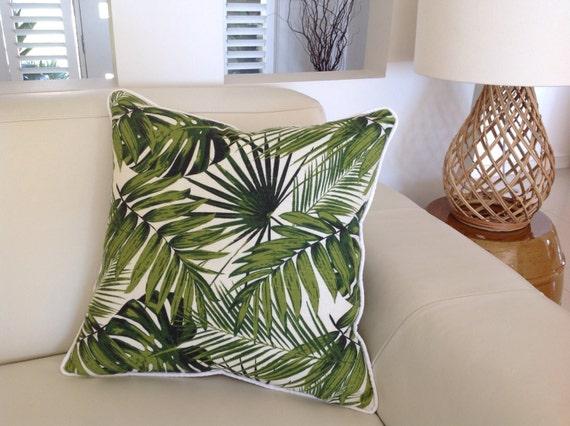 palmier feuille tropicale oreillers housses de coussin. Black Bedroom Furniture Sets. Home Design Ideas