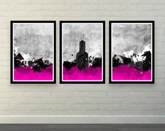 Abstract City (MultiColorArt Design) A3 High Quality Posters