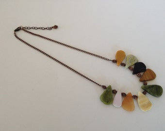 Marble and Antique Copper Necklace