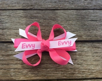 Personalized Hair Bow- Baby Bow with Child's Name