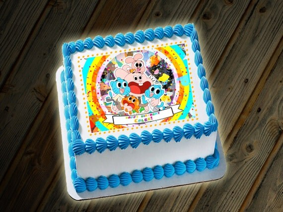 Amazing World Of Gumball Birthday Cake
