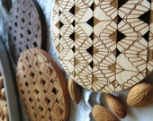 Wood Coasters - Set of 4 - Engraved Coasters-Art Deco-set of 4