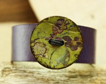 Leather cuff bracelet, handmade leather bracelet, handmade leather cuff, jewelry, handmade jewelry, unique handmade jewelry, leather cuff
