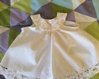 White Lace Baby Dress 0 - 3 Months