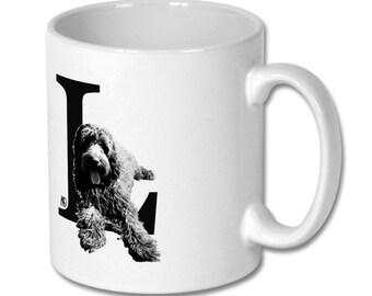 L for Labradoodle Dog Mug