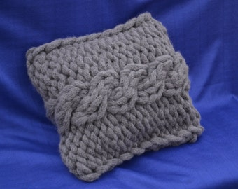 Knit Pillow Cover Cable Knitted Pillow Case Throw Pillow Sleeve Crochet Home Decor Tan