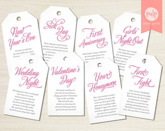 DIGITAL FILE: Printable Bridal Shower Wine Tags by ...