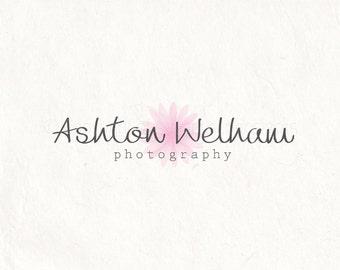Photography logo design - premade logo watermark - daisy logo - watercolor logo. Instant download digital download psd file