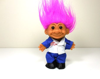 Vintage 1980s Russ Royal King Troll Doll By