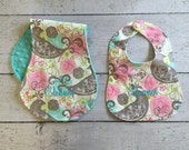 Personalized Baby Bib and Burp Cloth Set, Create Your Own!