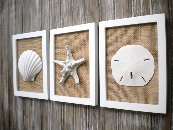 Cottage Chic Set Of Beach Wall Art Wall Decor Nautical Decor Sea
