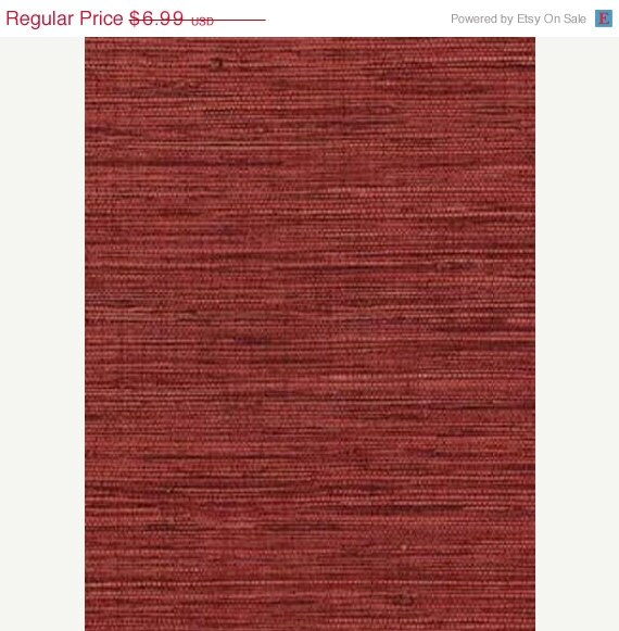 Red Grasscloth Wallpaper: Deep Red Faux Grasscloth Wallpaper Wicker By