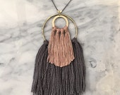 No. 2 // Fiber Necklace // Tassel Necklace