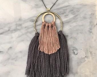 No. 2 // Fiber Necklace // Tassel Necklace
