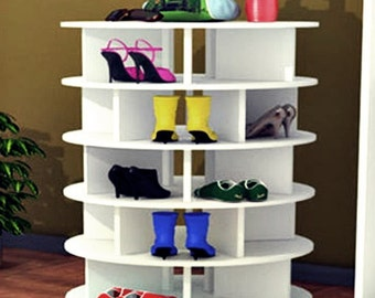 spinning shoe rack shoe up to 60 pair handmade save