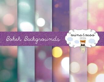 Bokeh - Boken backgrounds - digital papers - bokeh photography - Scrapbook Paper - bokeh digital paper - bokeh backdrop - Bokeh print