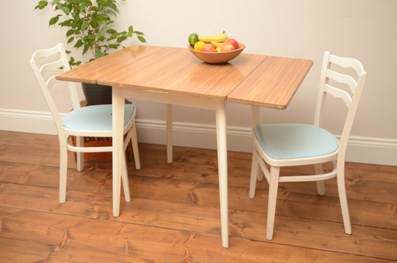 Nice vintage formica drop leaf dining table and chairs by for Kitchen table with leaf insert