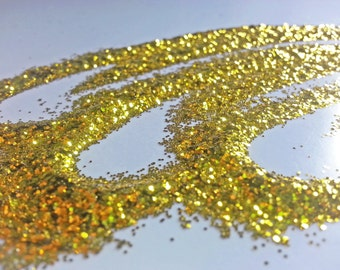 glitter - yellow fine polyester