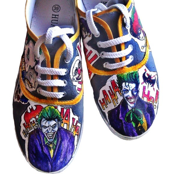 4b1c1ab59d99 Handpainted High Fanart Batman Shoes Personalized Joker f6wBanAq