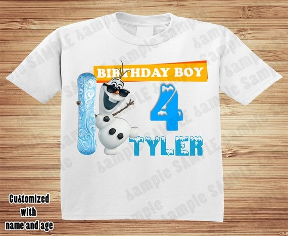 Personalized Disney Olaf Frozen birthday t-shirt - Elsa, Anna, Olaf, Sven