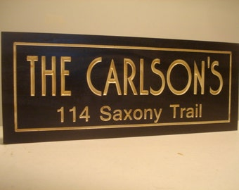 Custom Carved Wood Sign, Address Plaque, Custom wood Sign,  Address Sign, Outdoor Wood Sign, New Home Gift, Wood Wall Art, Unique gift idea