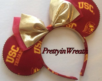 USC TROJANS inspired Mickey Mouse ears headband