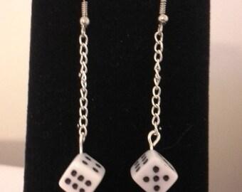 Dangling Dice Earrings