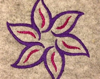 Embroidery Flower 10x10