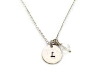 Initials, name necklace bead name necklace