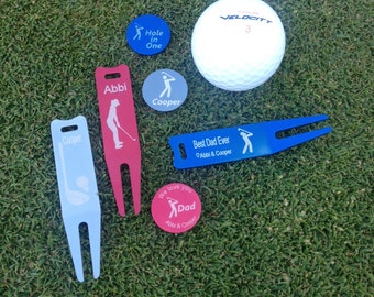 Golf Marker & Divot Tool  Set - personalized