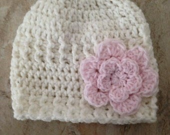 Crocheted Baby Hat Sz 6 months