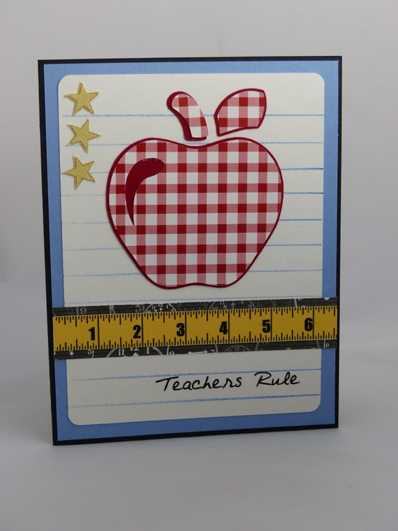 handmade greeting card teacher appreciation teacher thank