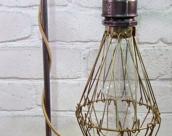 Industrial Style Single Drop Pendant and Laboratory Stand