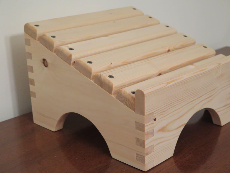Angled Wooden Footstool Nursing Stool Ergonomic Desk