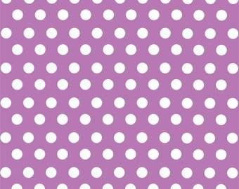 Orchid with white polka dot pattern craft  vinyl sheet - HTV or Adhesive Vinyl -  medium polka dots HTV1626