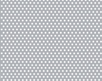 Gray with white mini polka dots craft or adhesive  vinyl sheet - HTV or Adhesive Vinyl -  polka dot pattern HTV2318