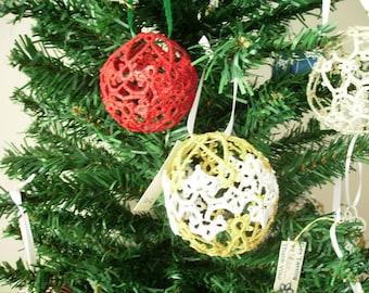Tatted Snowball Ornament Pattern
