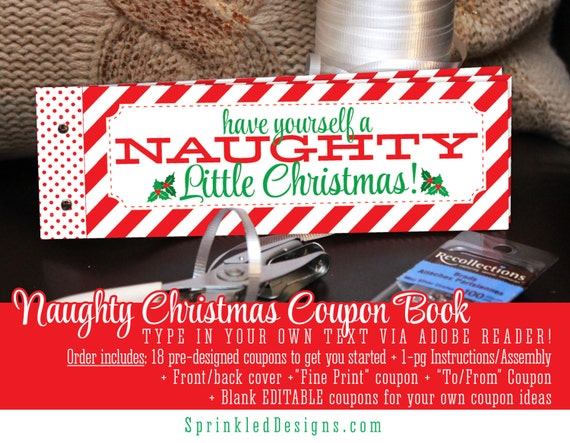 Christmas Gifts For Him Her Naughty Coupon Book