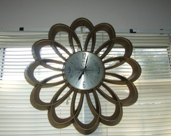 "60 's oversized wall clock ""Arabesque"""