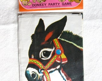 1977 Pin The Tail on the Donkey Game / Vintage/ NEW in Package
