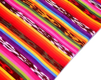 Ikat Handmade Fabric (#59) from Guatemala (THICK) - 100% Thick Cotton - Sold by yard - Suitable fabric for upholstery